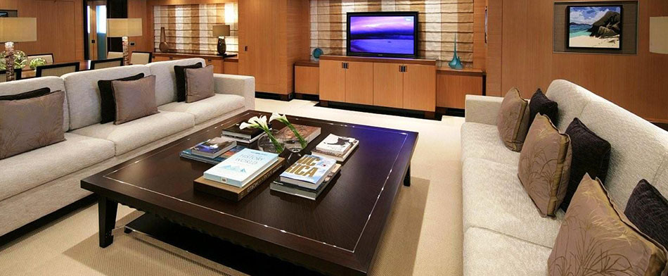 Andreas L Yacht for Charter - Living Room