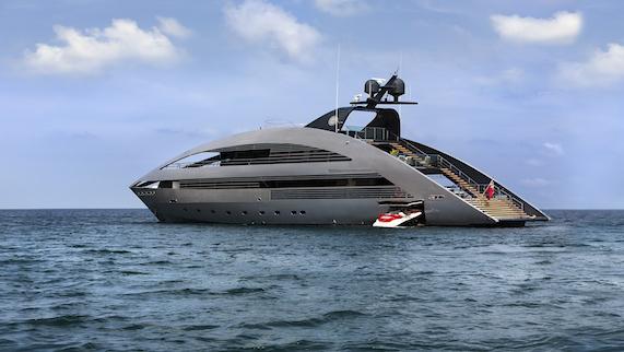 Highly distinctive yacht