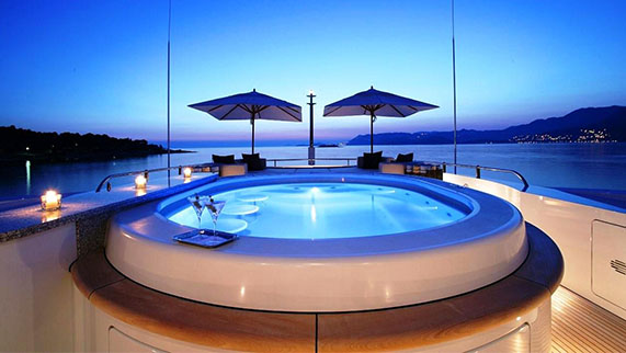 Andreas L Yacht for Charter - Amenities - Skyview Jacuzzi