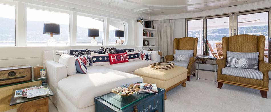 Bina Yacht for Charter - Living Room