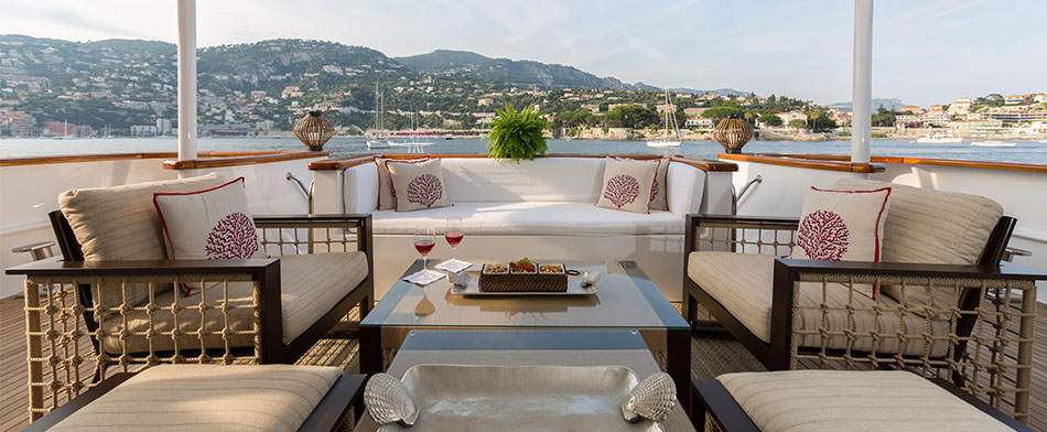 Bina Yacht for Charter - Outdoor Living Room