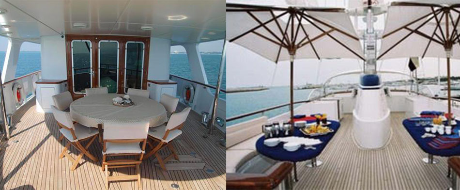 Evnike Yacht for sale - Outdoor Living Area