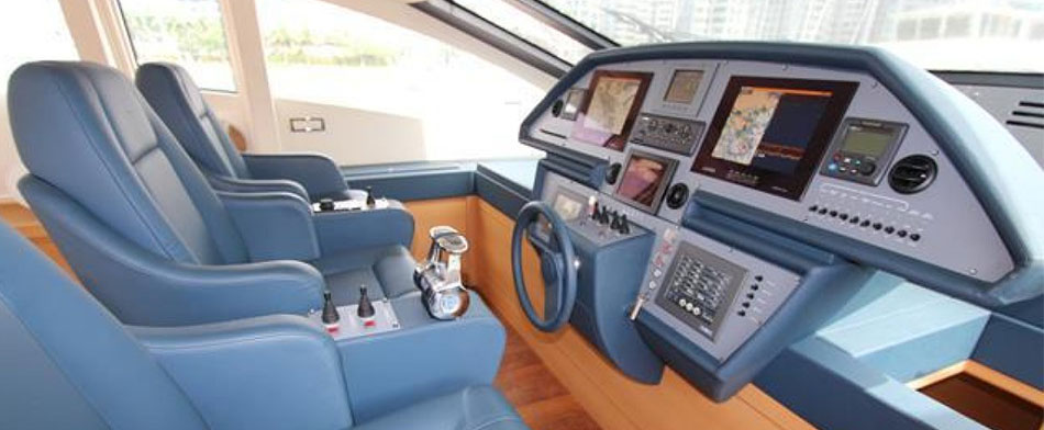 Pershing 80 Yacht for Sale - Bridge view