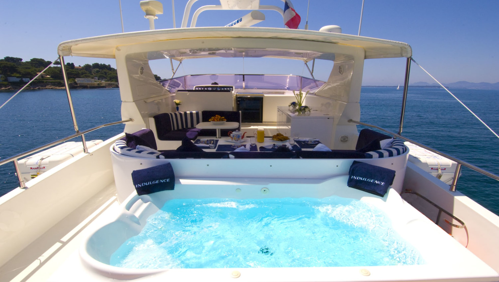 Jacuzzi on the flybridge