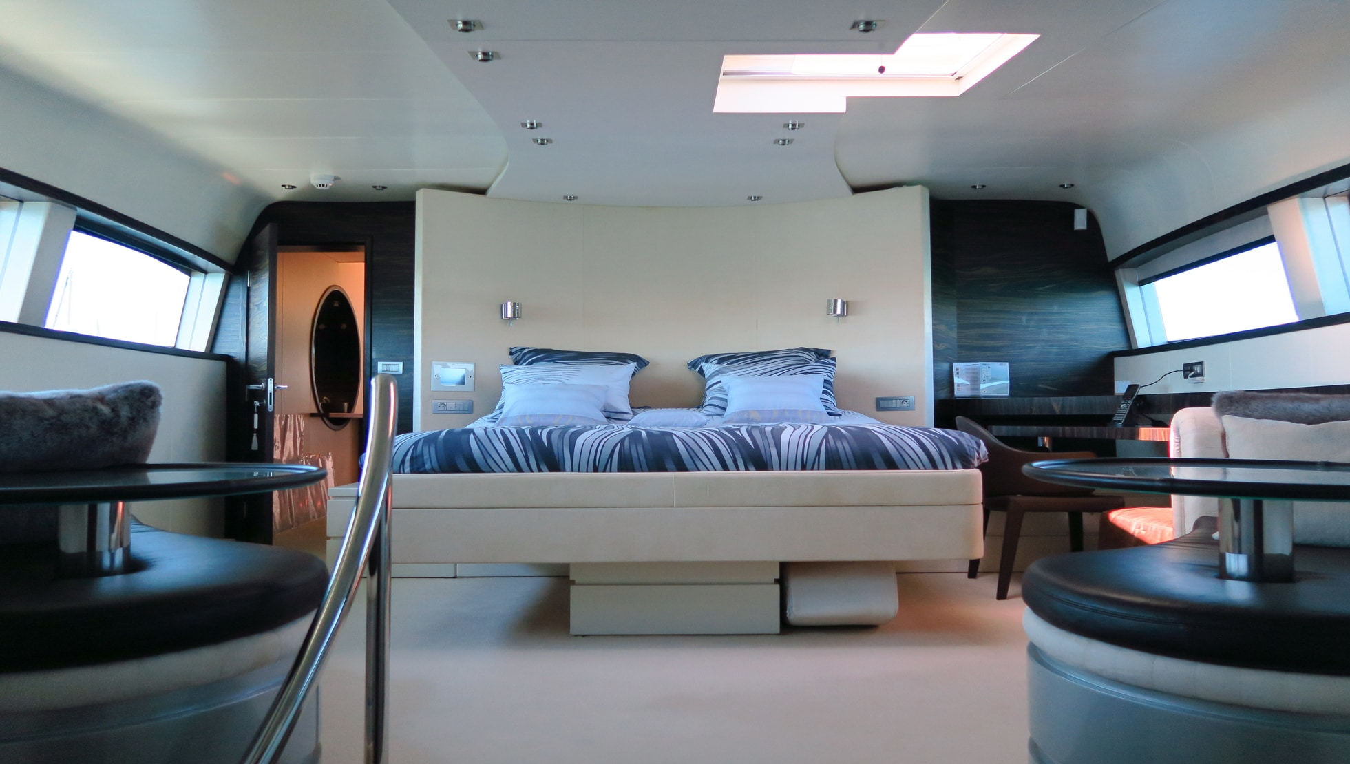 Master cabin on main deck