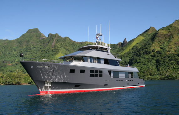 Expedition style motor yacht