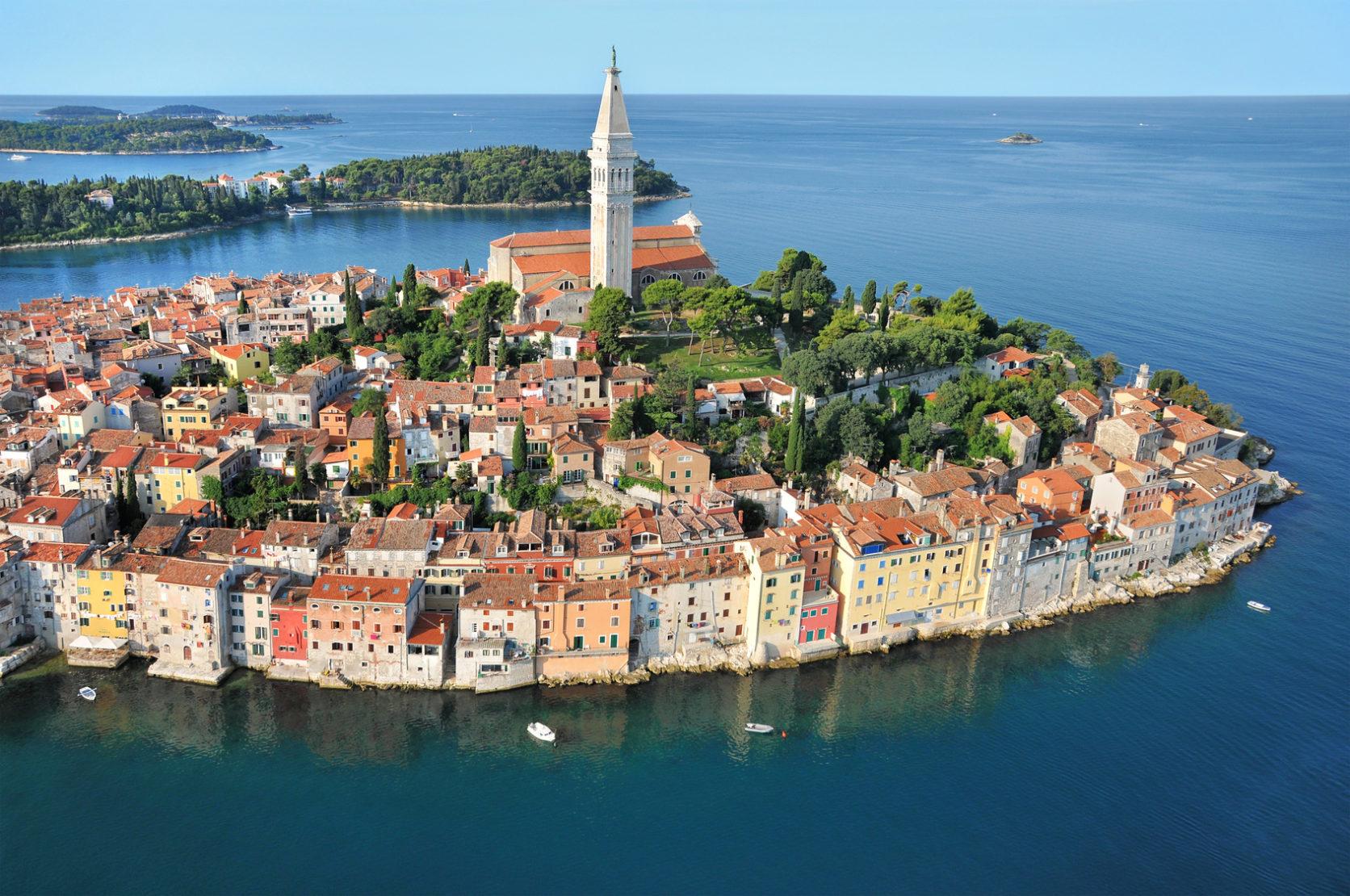 Paysage en Croatie.