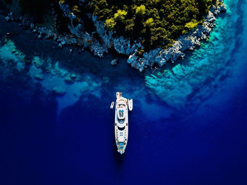 yacht in Turkey.