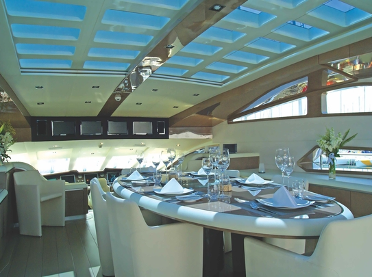 Awarded best interior yacht design on any semi displacement yacht in 2011
