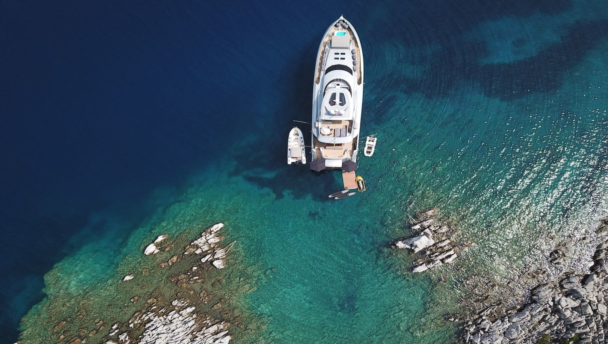 Meya Meya, a luxury yacht sailing through Greece waters.