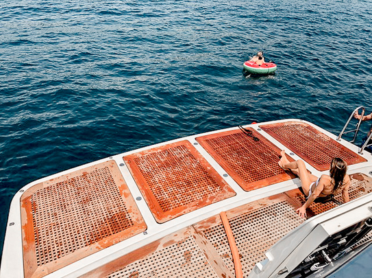 Extended swim platform +2m