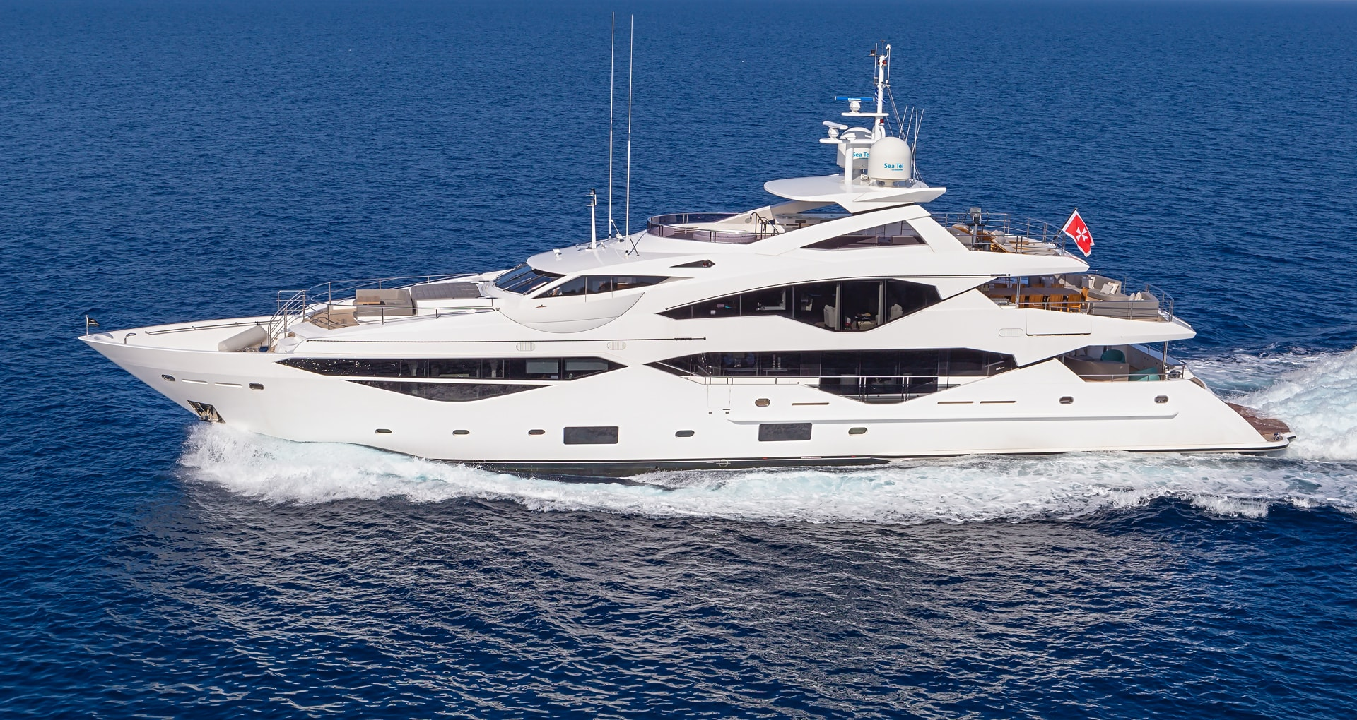 A fast superyacht