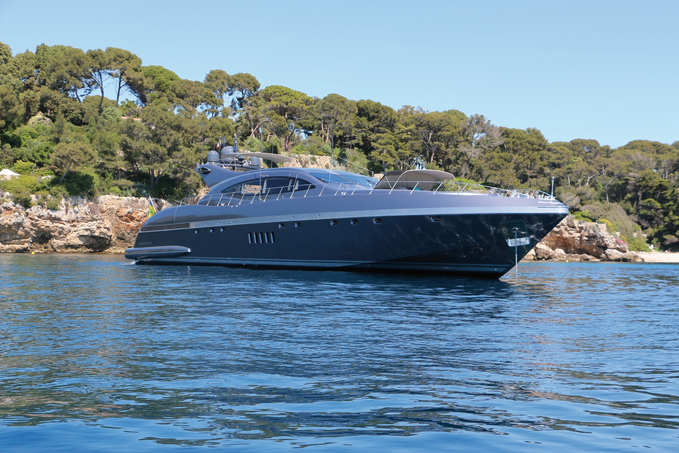 A top speed of 34 knots