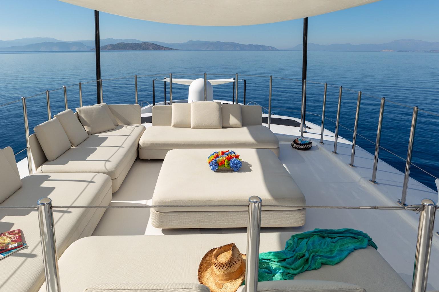 A superb lounge/ sunbathing area