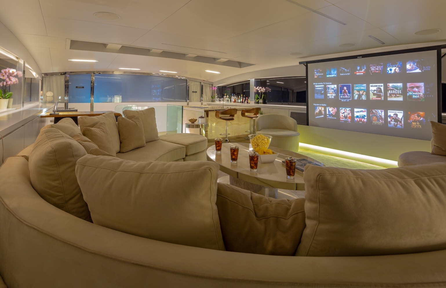 HD projector on the upper saloon perfect for movie nights