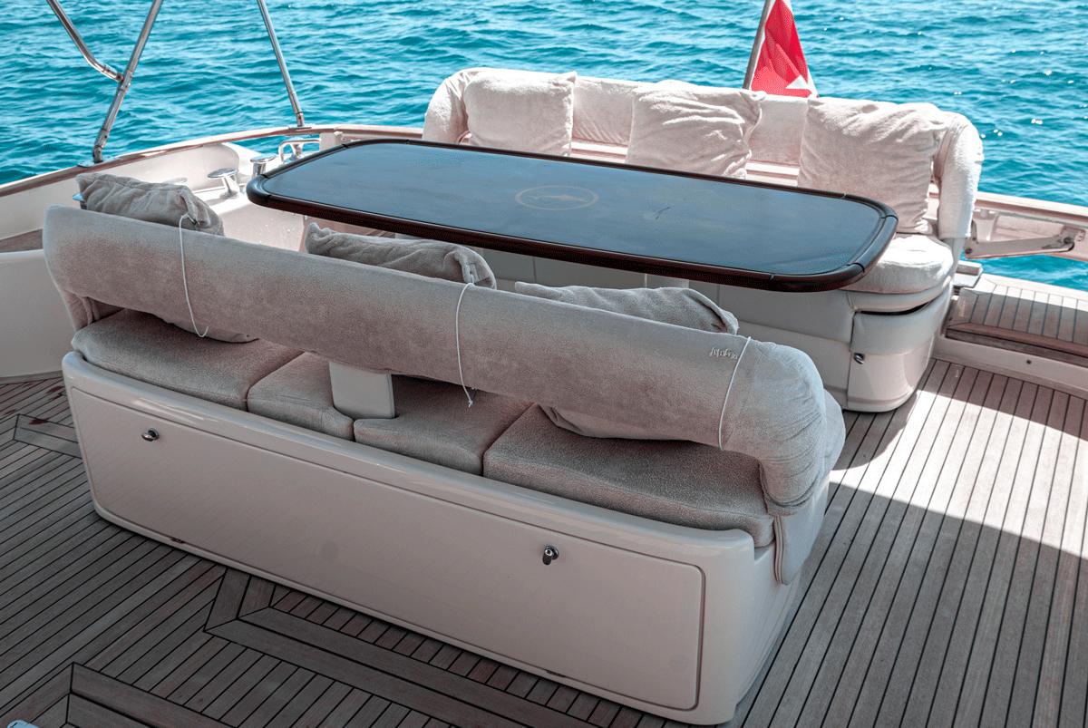 Comfortable sundeck area