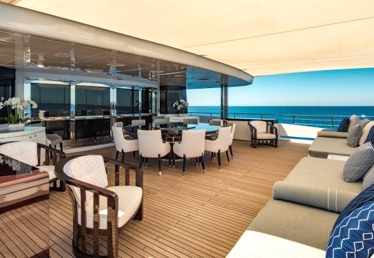Spacious deck area