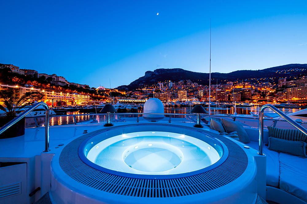 jacuzzi on a luxury yacht monaco